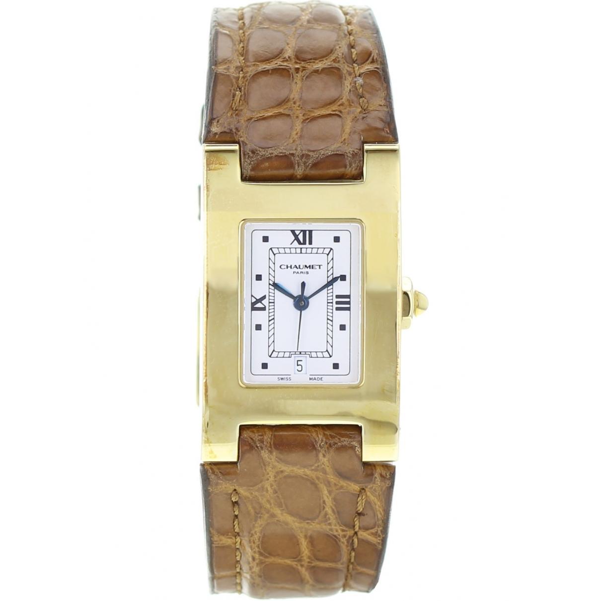 Chaumet \N Khaki Yellow gold watch for Men \N