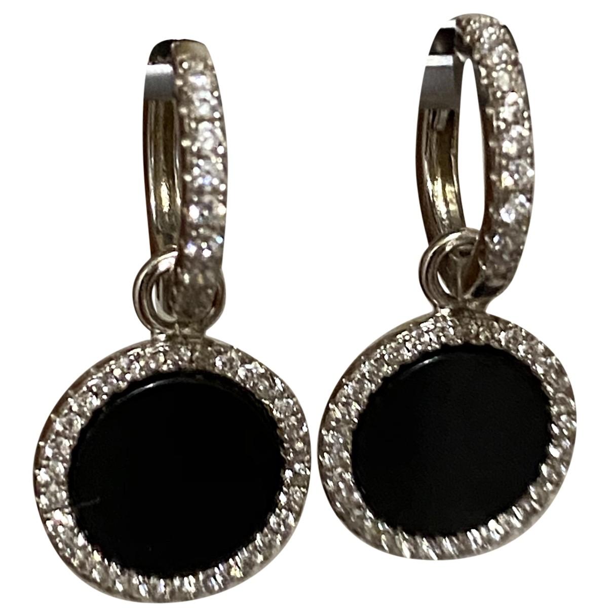 - Boucles doreilles Onyx pour femme en argent - blanc