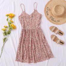 Plus Ditsy Floral Cami Dress
