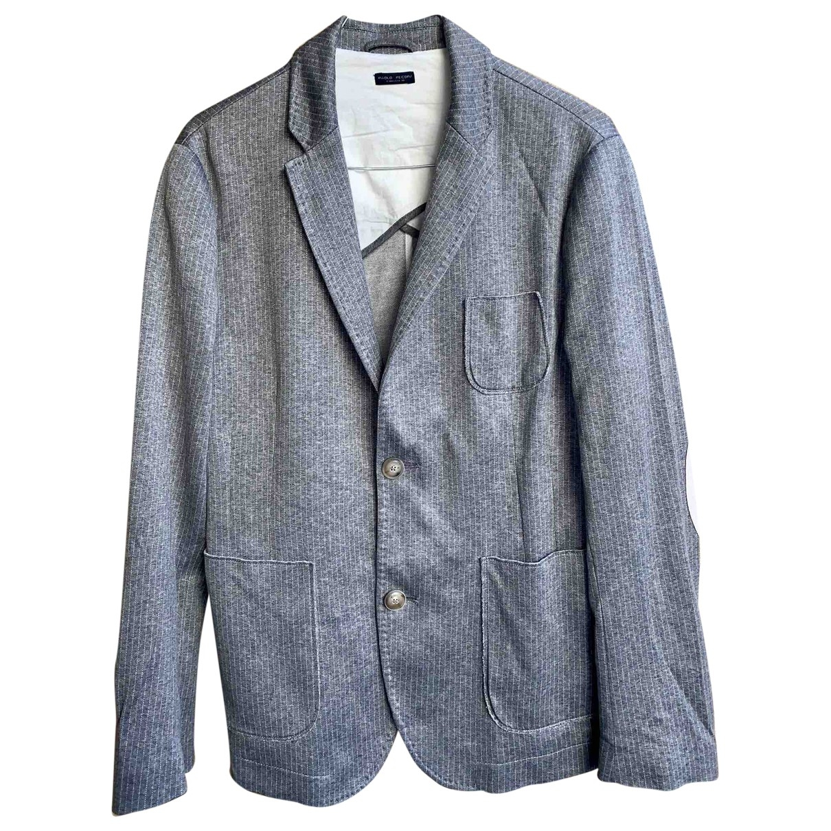 Non Signé / Unsigned \N Grey Cotton jacket  for Men 48 IT
