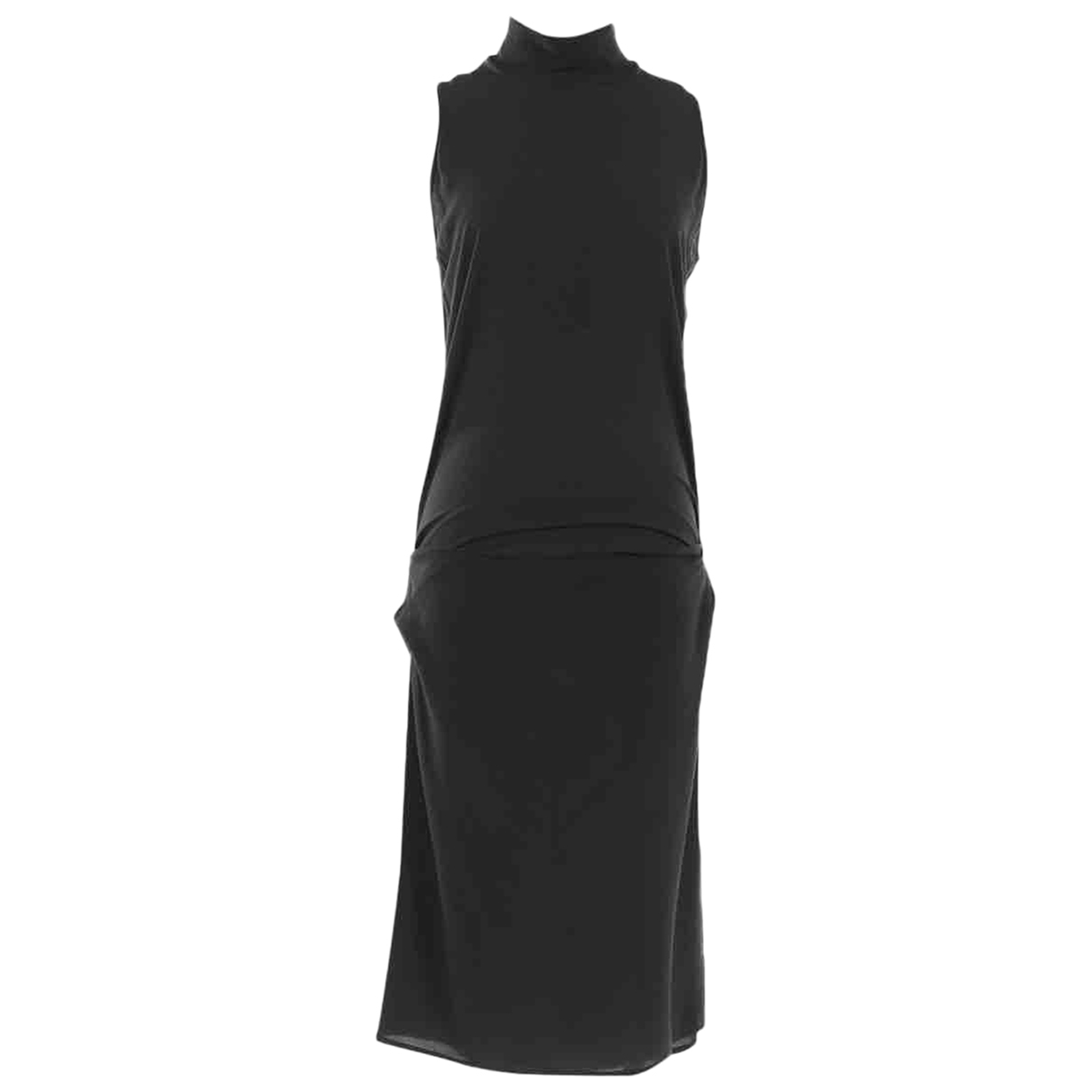 Non Signé / Unsigned \N Black Silk dress for Women M International