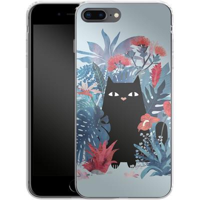 Apple iPhone 7 Plus Silikon Handyhuelle - Popoki Blue von Little Clyde
