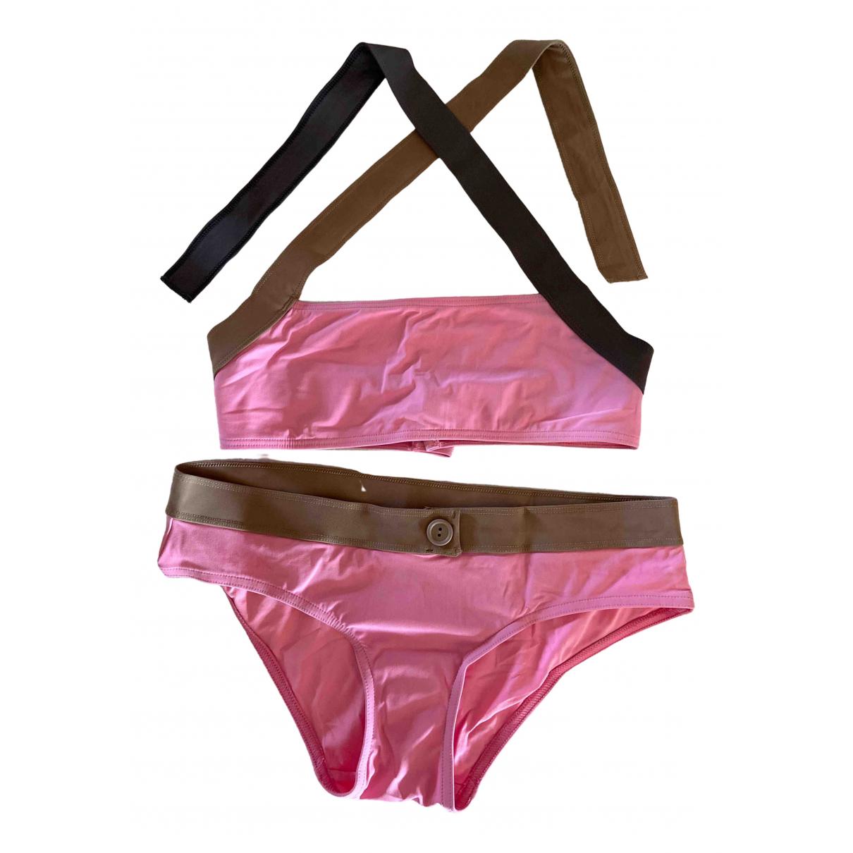 Calvin Klein \N Badeanzug in  Rosa Lycra