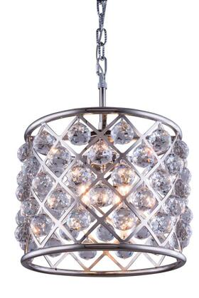 1206D14PN/RC 1206 Madison Collection Pendent Lamp D: 14 H: 13 Lt: 4 Polished nickel Finish (Royal Cut