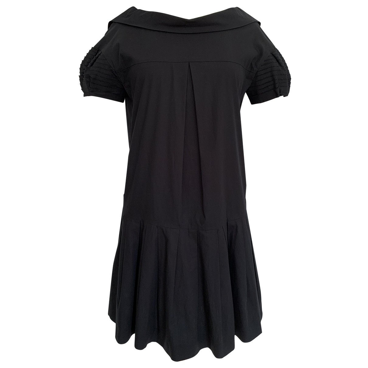 Miu Miu \N Black Cotton dress for Women 40 IT
