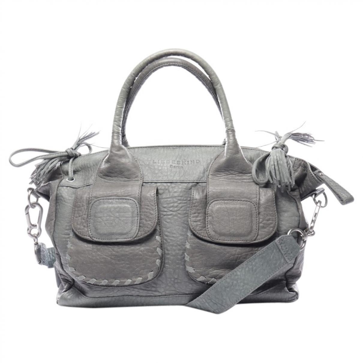 Autre Marque \N Grey Leather handbag for Women \N