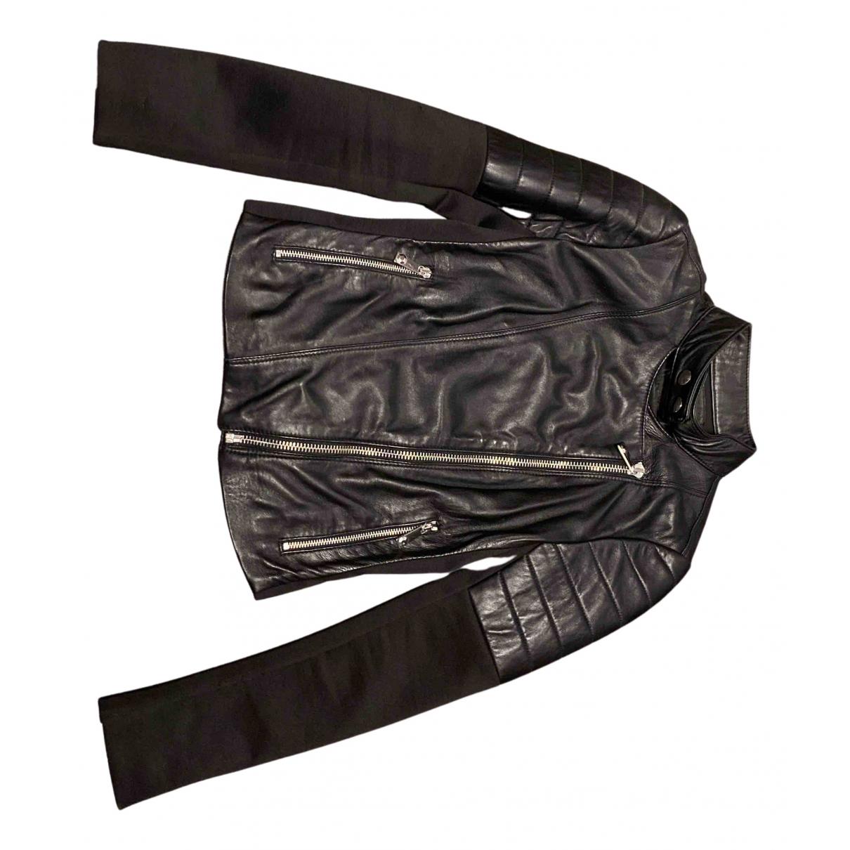 Pinko N Black Leather jacket for Women 40 IT