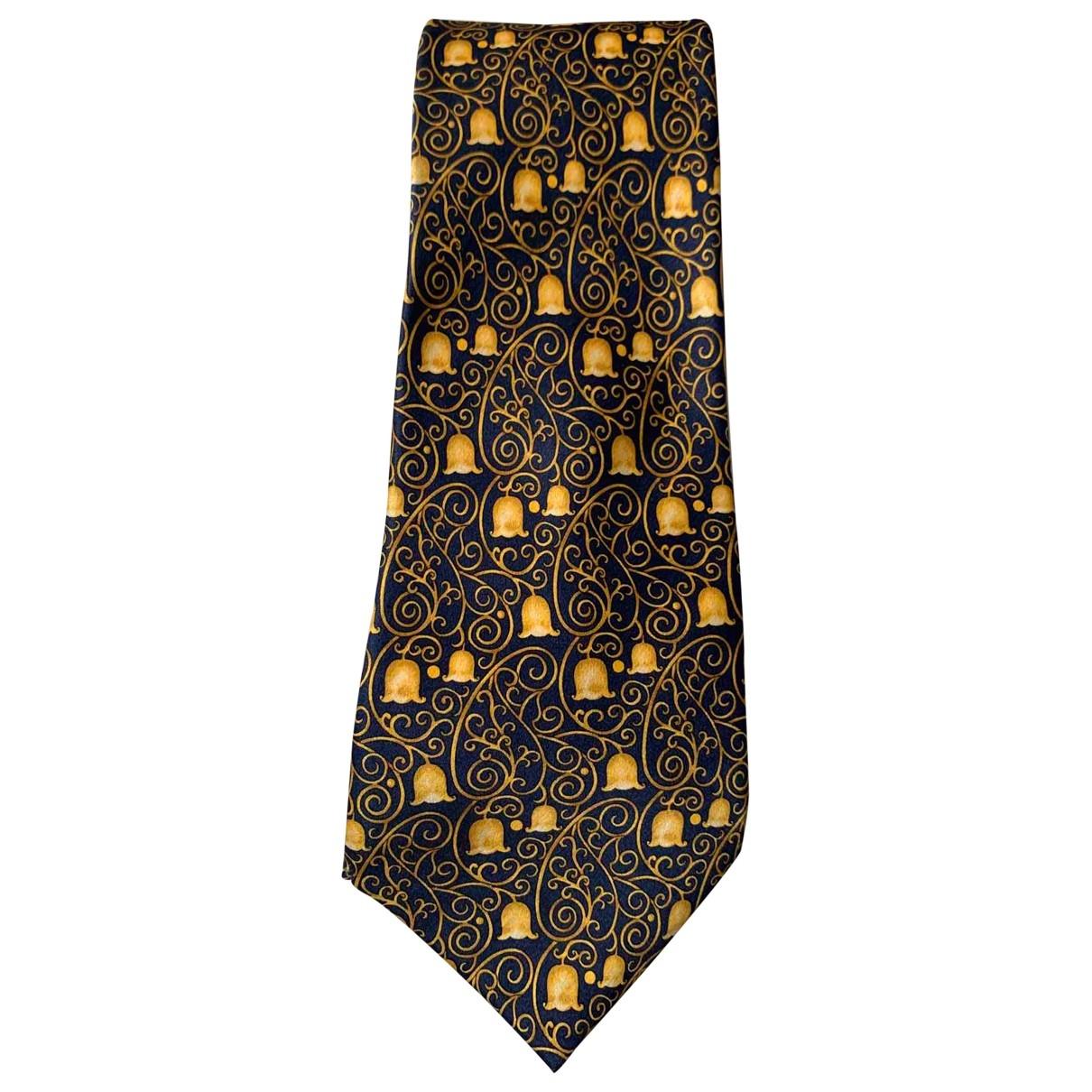 Lanvin \N Gold Silk Ties for Men \N