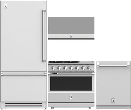 4 Piece Kitchen Appliance Package with KRBL36 36