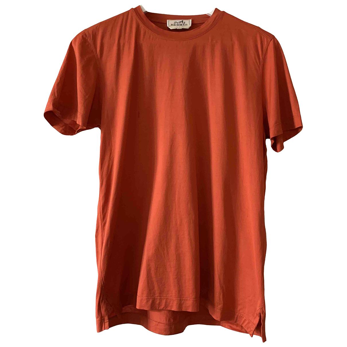 Hermes - Tee shirts   pour homme en coton - orange