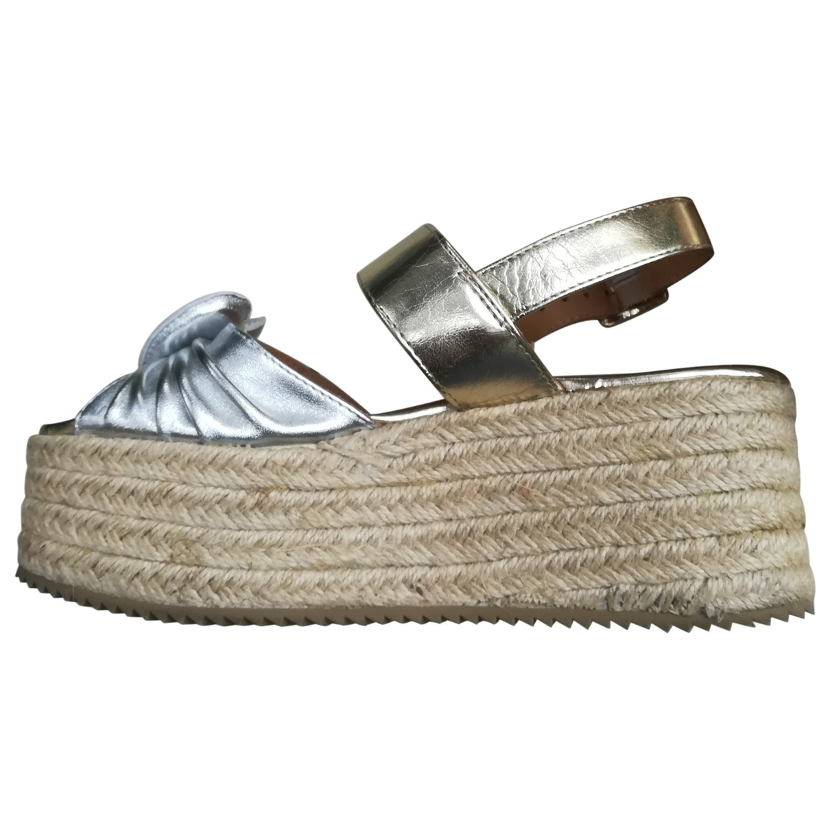 Moschino Love \N Silver Leather Sandals for Women 37 EU