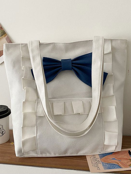 Milanoo Sweet Lolita Bag White Cross-body Bag Lolita Accessories Daily Casual