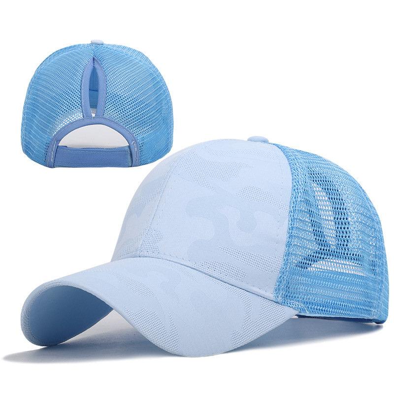 Women Man Color Baseball Cap Solid Color Breathable Sunshade Sun Hat