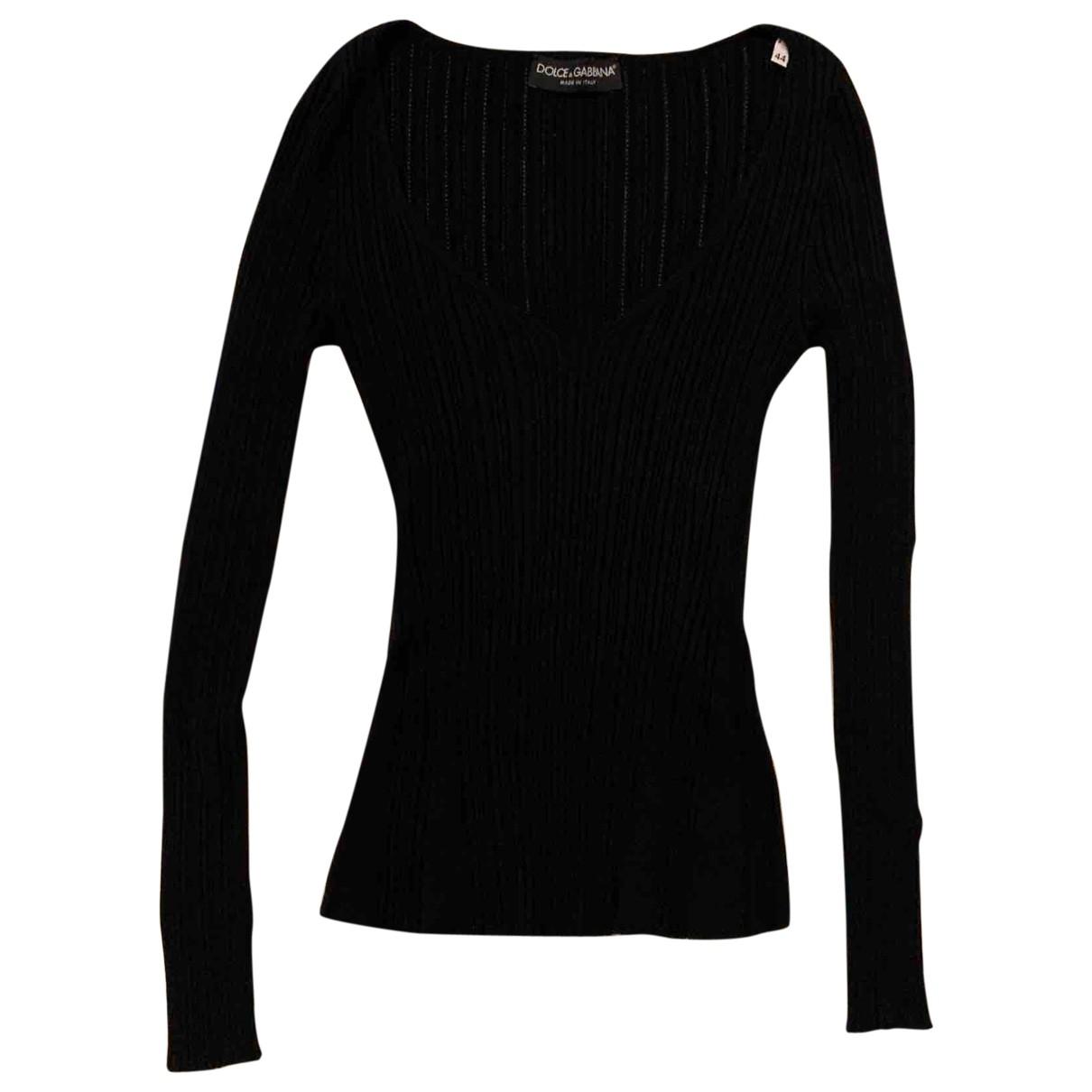Dolce & Gabbana \N Pullover in  Schwarz Baumwolle