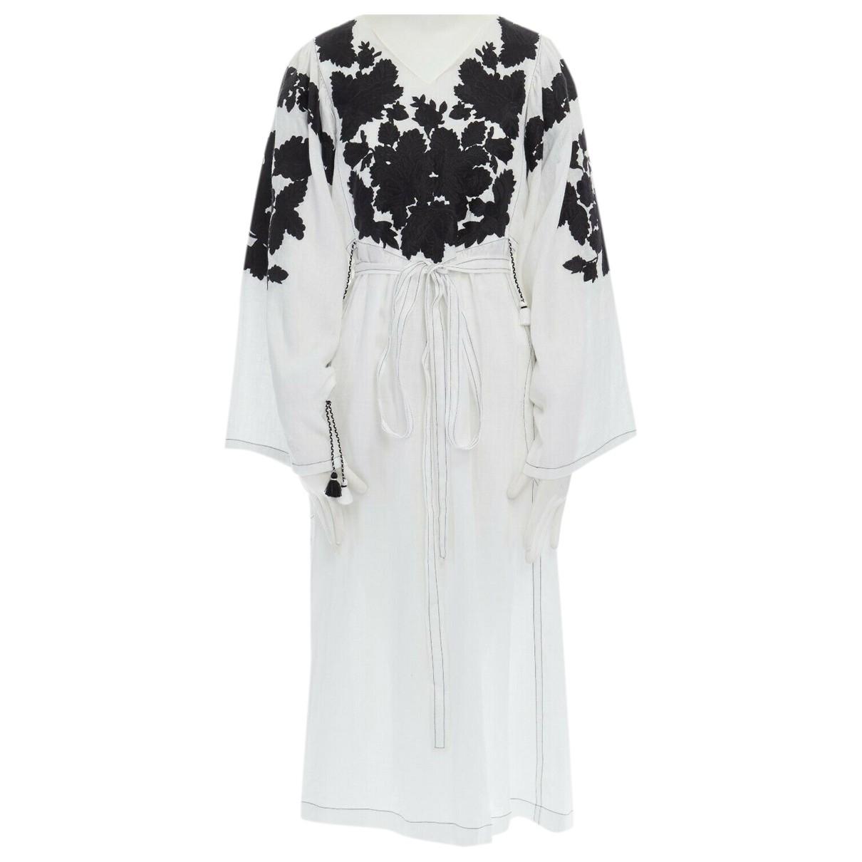 Vita Kin - Robe   pour femme en lin - blanc