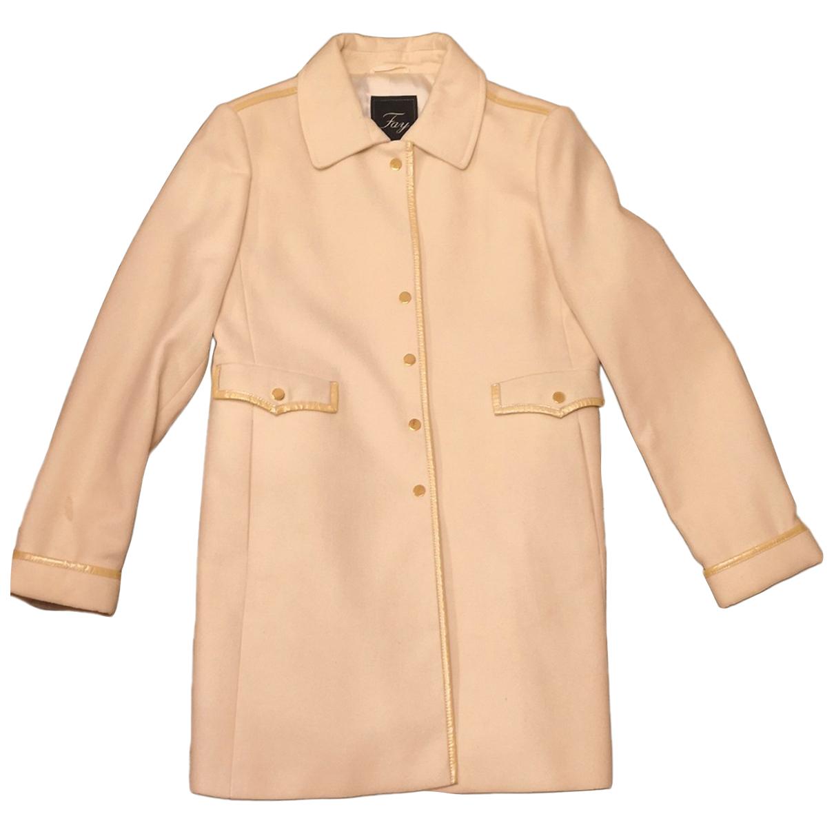 Fay N White Wool coat for Women L International