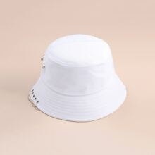 Solid Paper Clip Bucket Hat