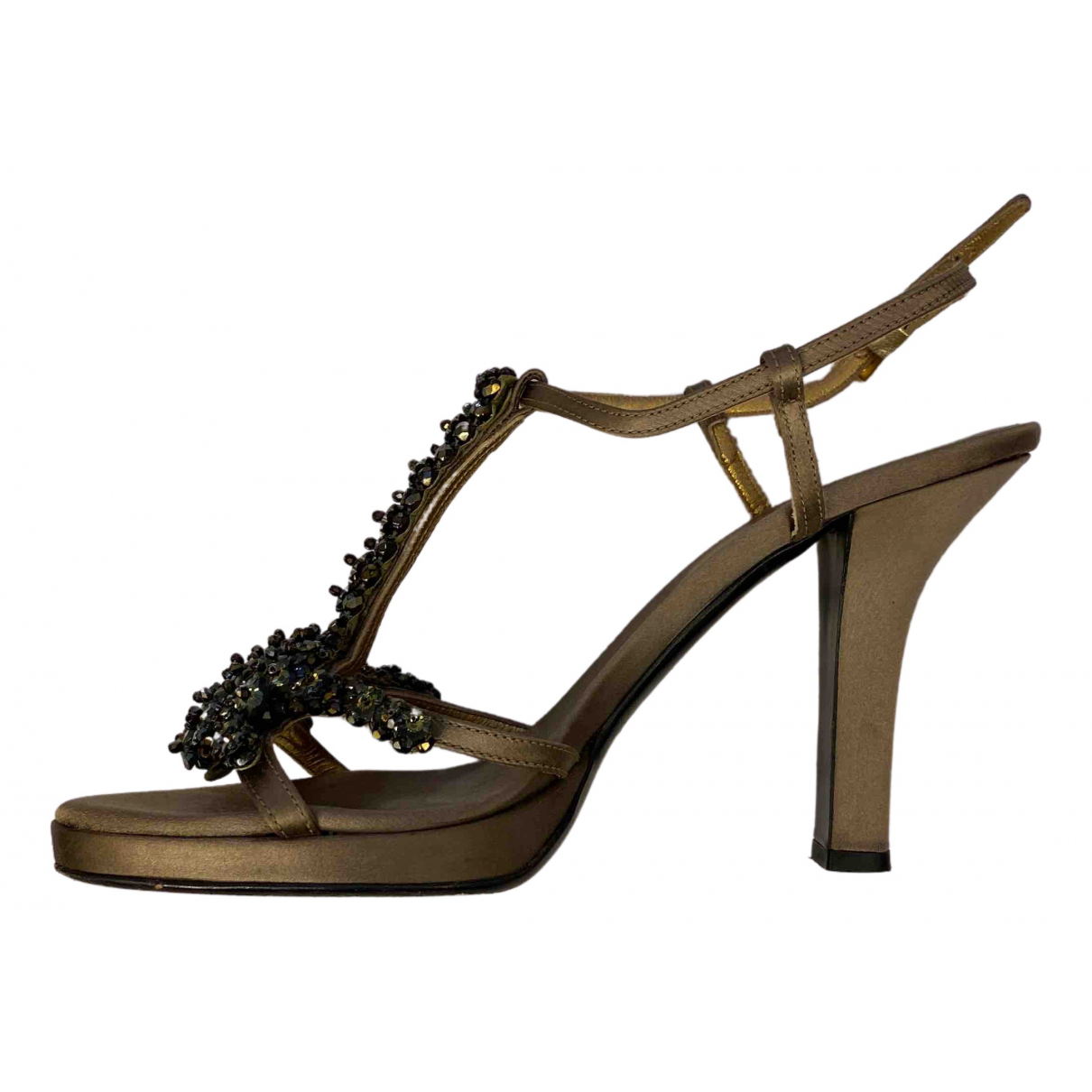 Prada \N Khaki Cloth Sandals for Women 39 EU