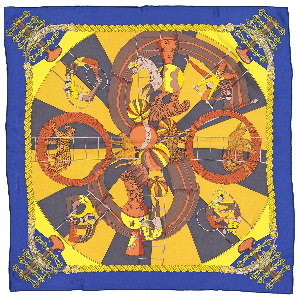 Hermes - Foulard   pour femme en soie - multicolore