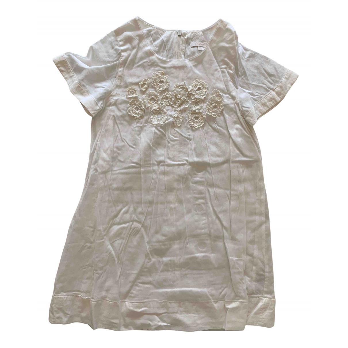 Chloe - Robe    pour enfant en coton - ecru