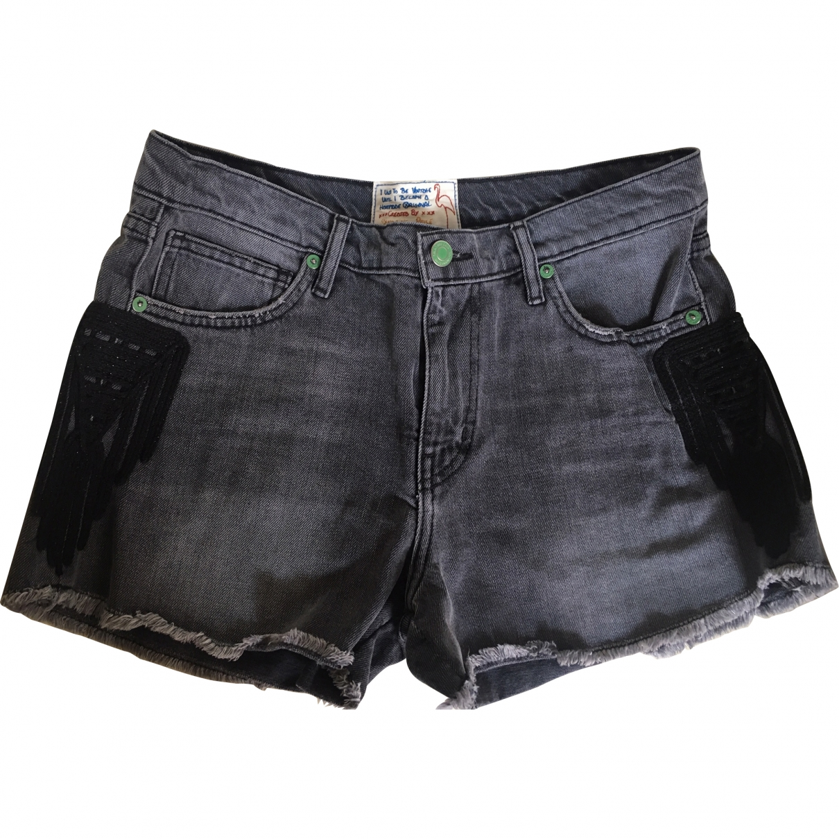 Non Signé / Unsigned \N Grey Denim - Jeans Shorts for Women S International