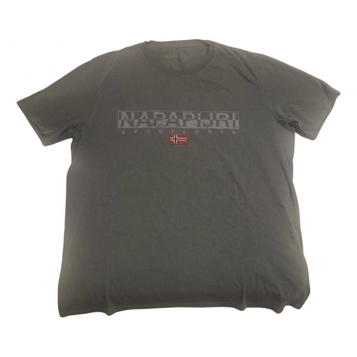 Napapijri - Tee shirts   pour homme en coton - kaki