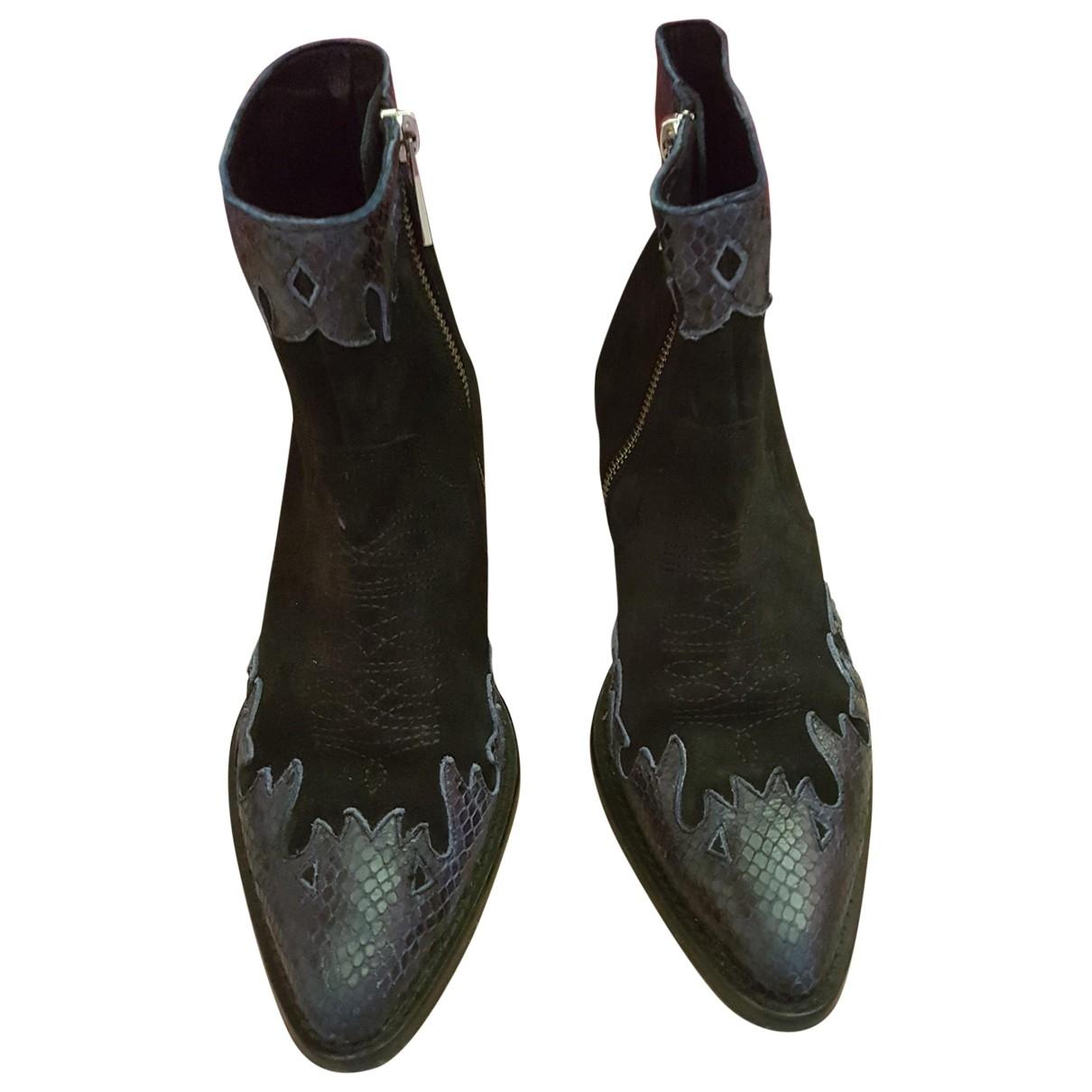 Zadig & Voltaire - Boots Abby pour femme en cuir - noir