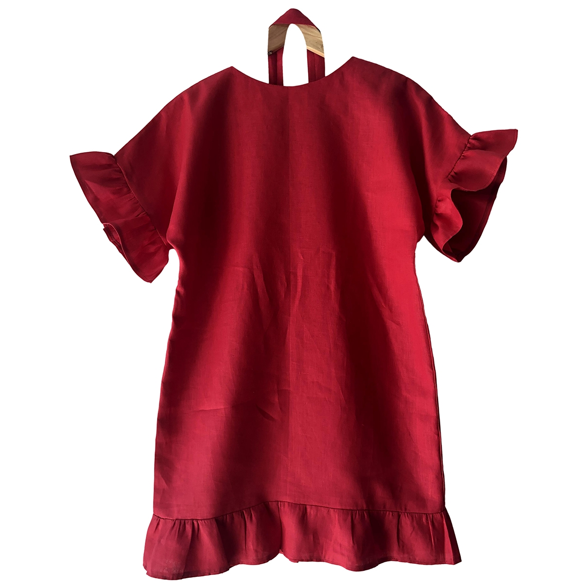 Non Signé / Unsigned \N Red Linen dress for Women S International
