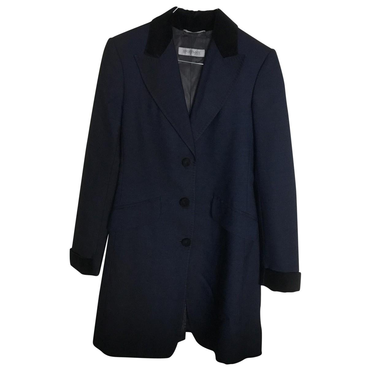 Sport Max \N Maentel in  Blau Wolle