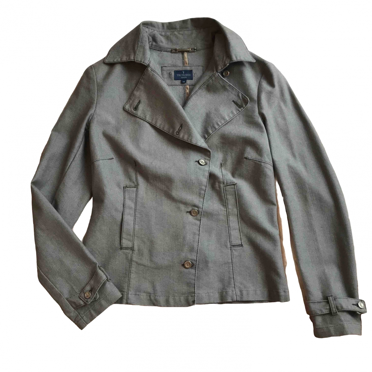 Trussardi Jeans \N Jacke in  Grau Denim - Jeans