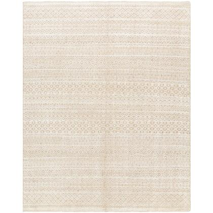 Nobility NBI-2311 8' x 10' Rectangle Traditional Rug in Wheat  Cream  Dark Brown