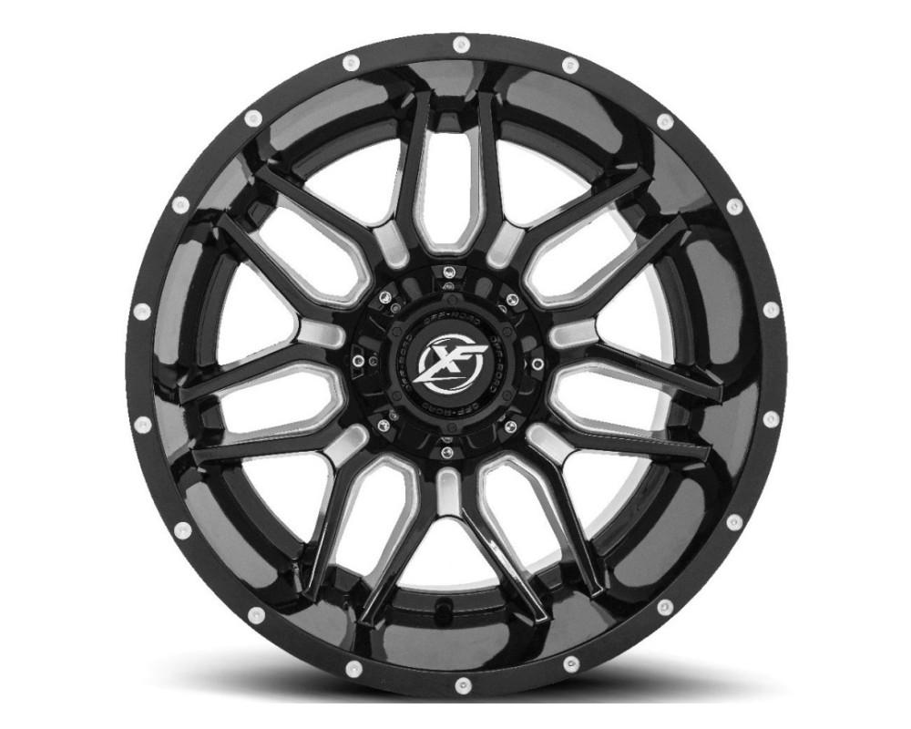 XF Off-Road XF-222 Wheel 20x10 6x135|6x139.7 -24mm Gloss Black Milled