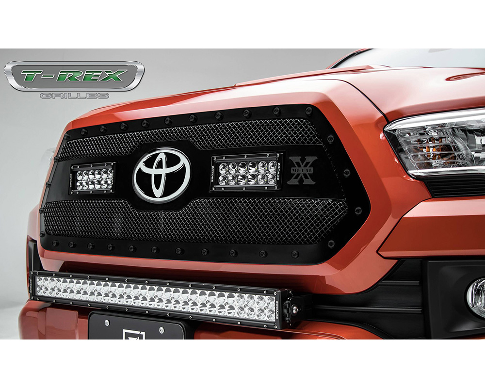 2018-2019 Tacoma Stealth Torch Grille, Black, 1 Pc, Insert, Black Studs, Incl. (2) 6