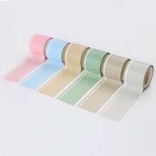 1roll Plaid Pattern Random Decorative Tape