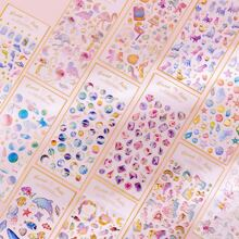 1sheet Mixed Pattern Random Sticker