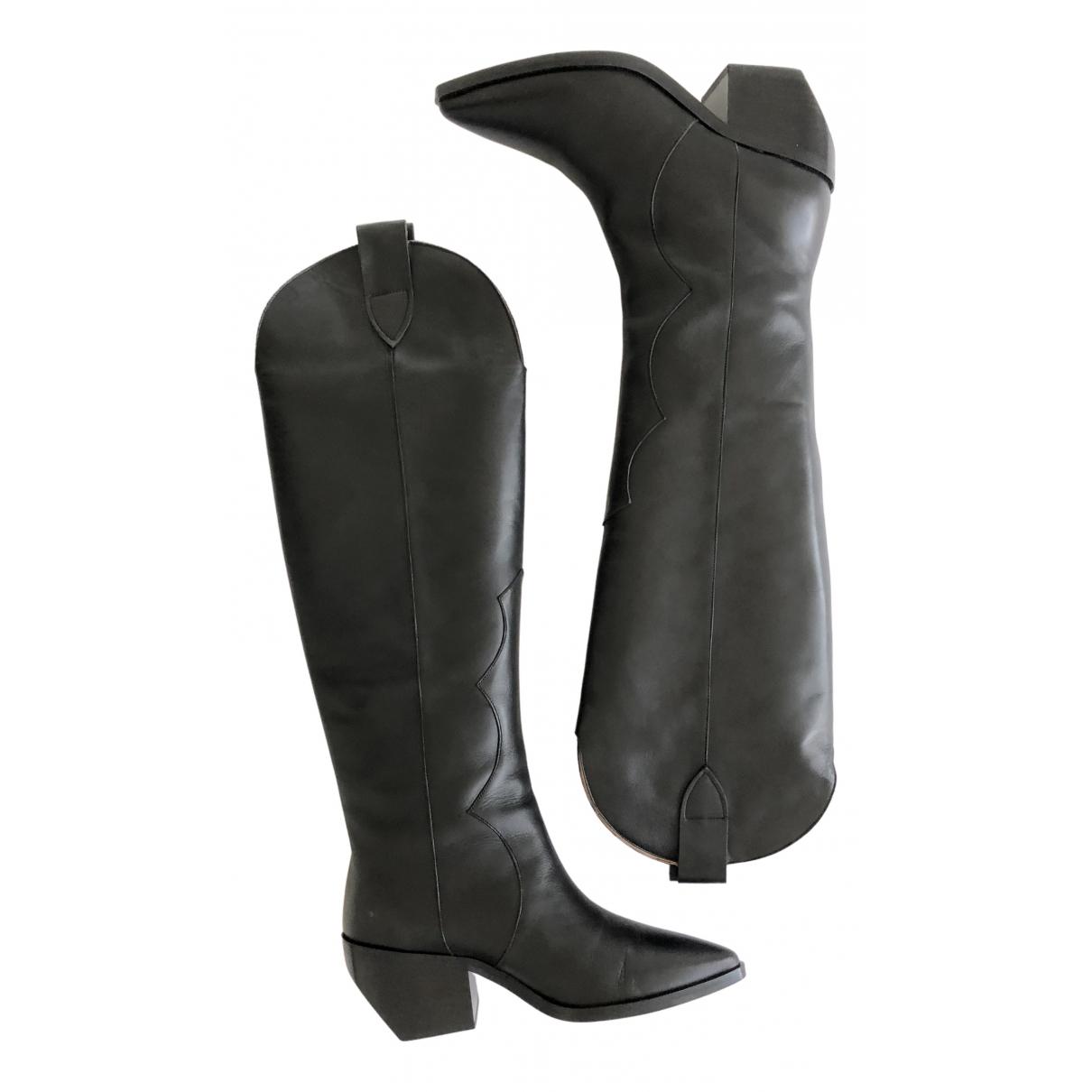 Inch2 \N Stiefel in  Schwarz Leder