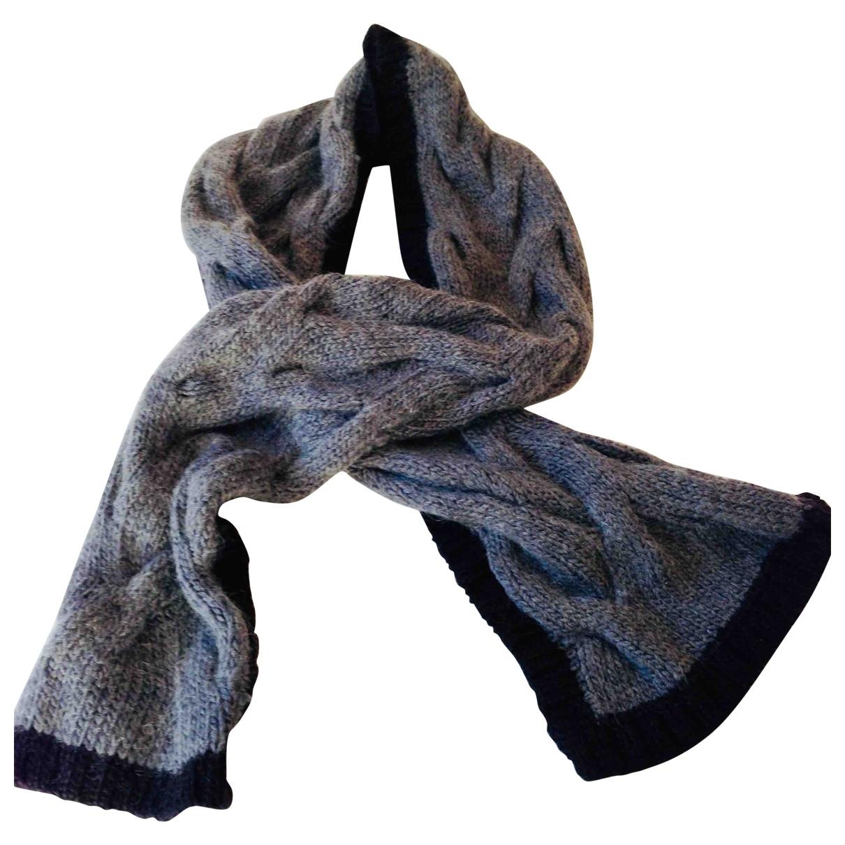 Parosh \N Schal in  Anthrazit Wolle