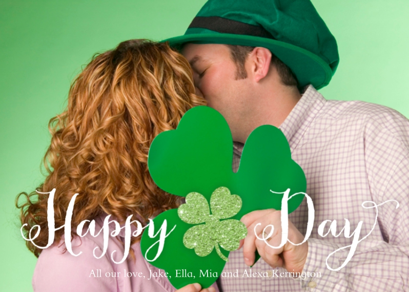 St. Patrick's Day Cards 5x7 Folded Cards, Standard Cardstock 85lb, Card & Stationery -Clover Day by Posh Paper