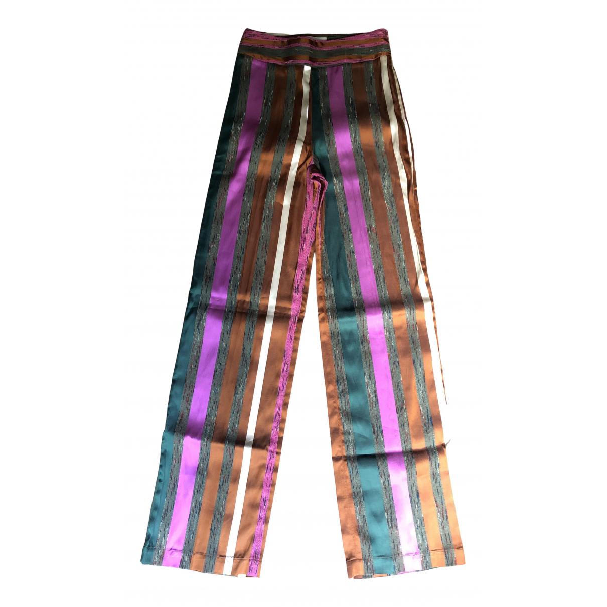 Sézane Spring Summer 2020 Multicolour Cotton Trousers for Women 34 FR