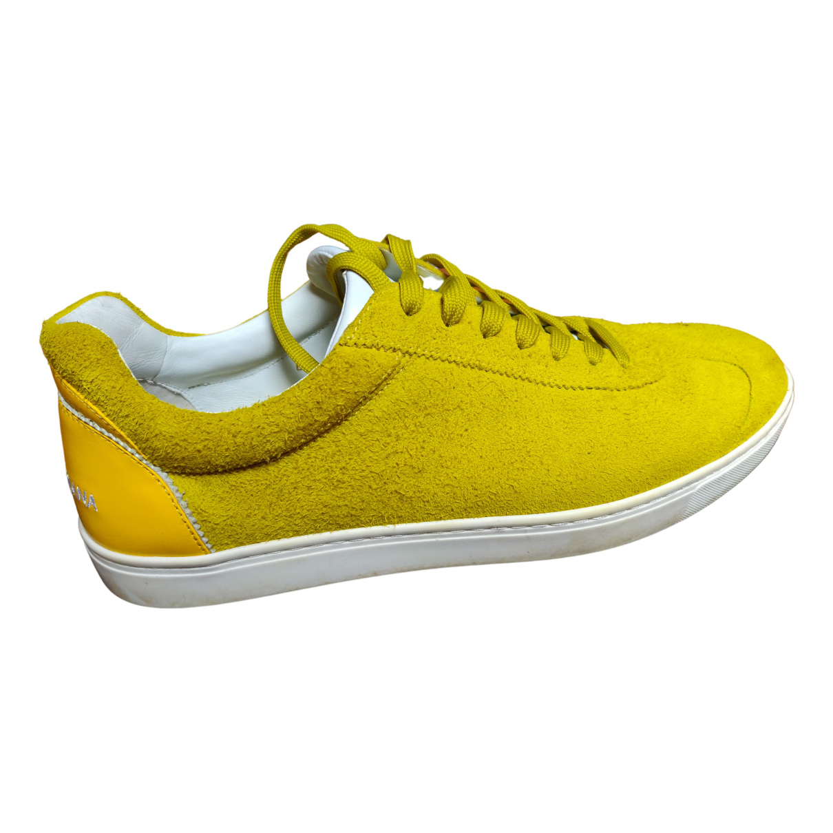 Dolce & Gabbana \N Sneakers in  Gelb Veloursleder