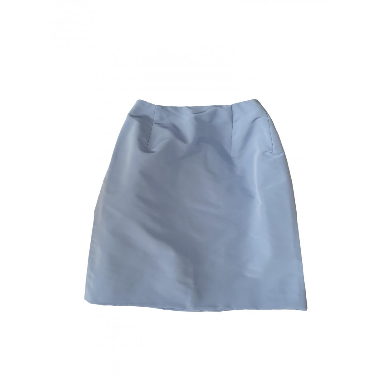 Oscar De La Renta - Jupe   pour femme en soie - bleu