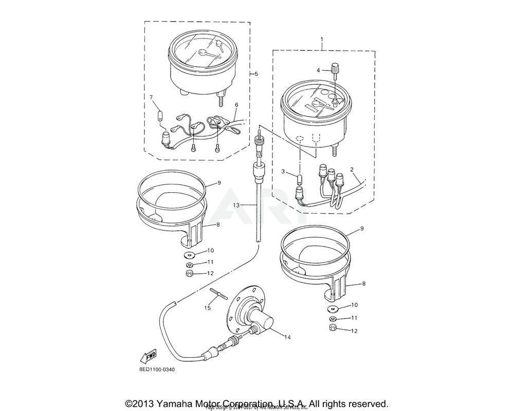 Yamaha OEM 8DN-83540-00-00 TACHOMETER ASSY | MM700F