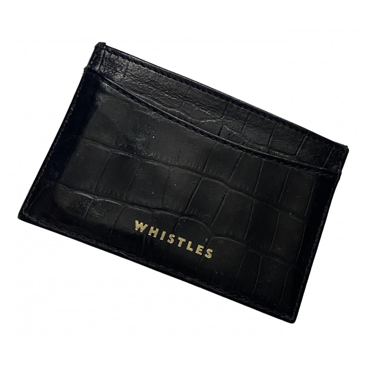 Whistles - Portefeuille   pour femme en cuir - noir