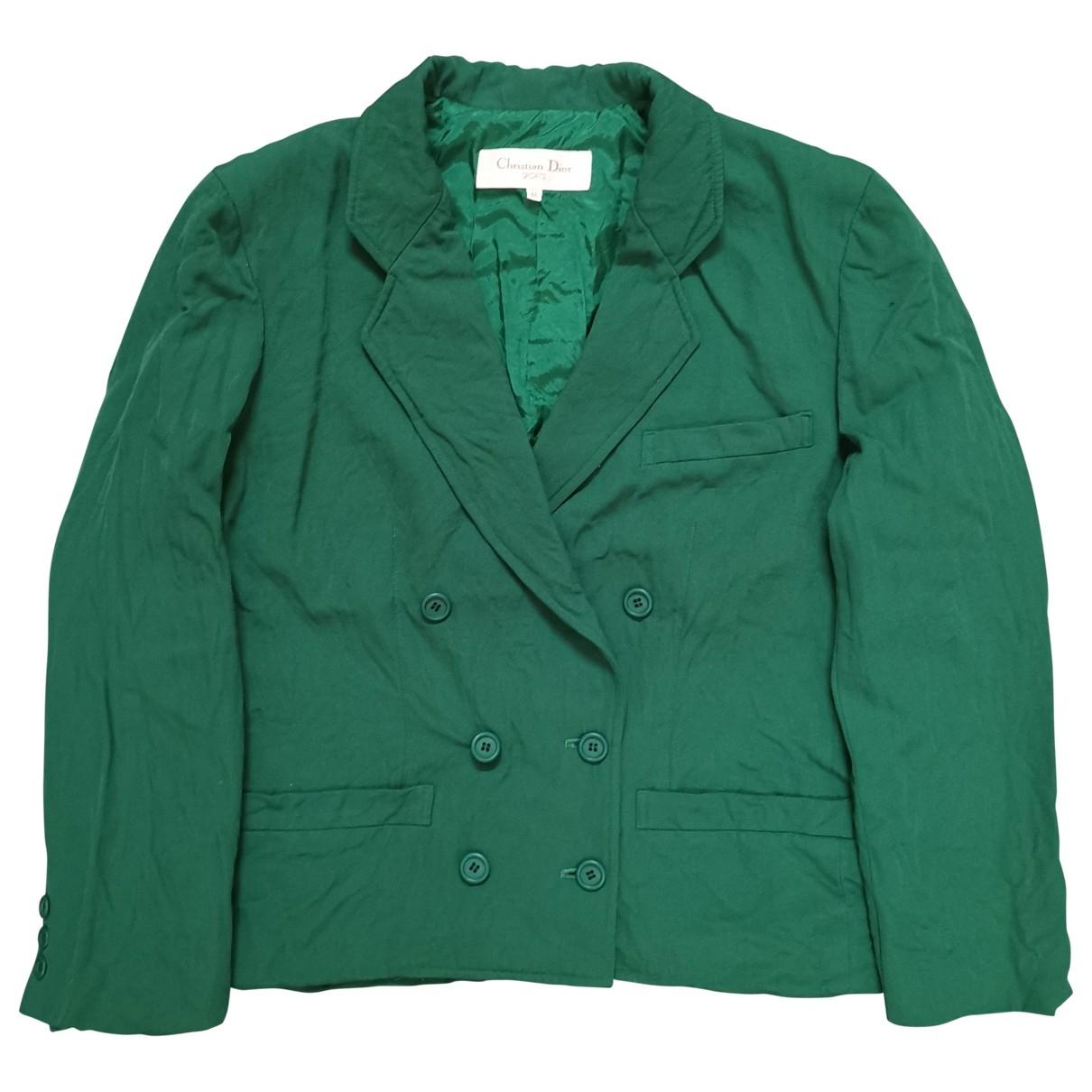Christian Dior - Veste   pour femme en coton - vert