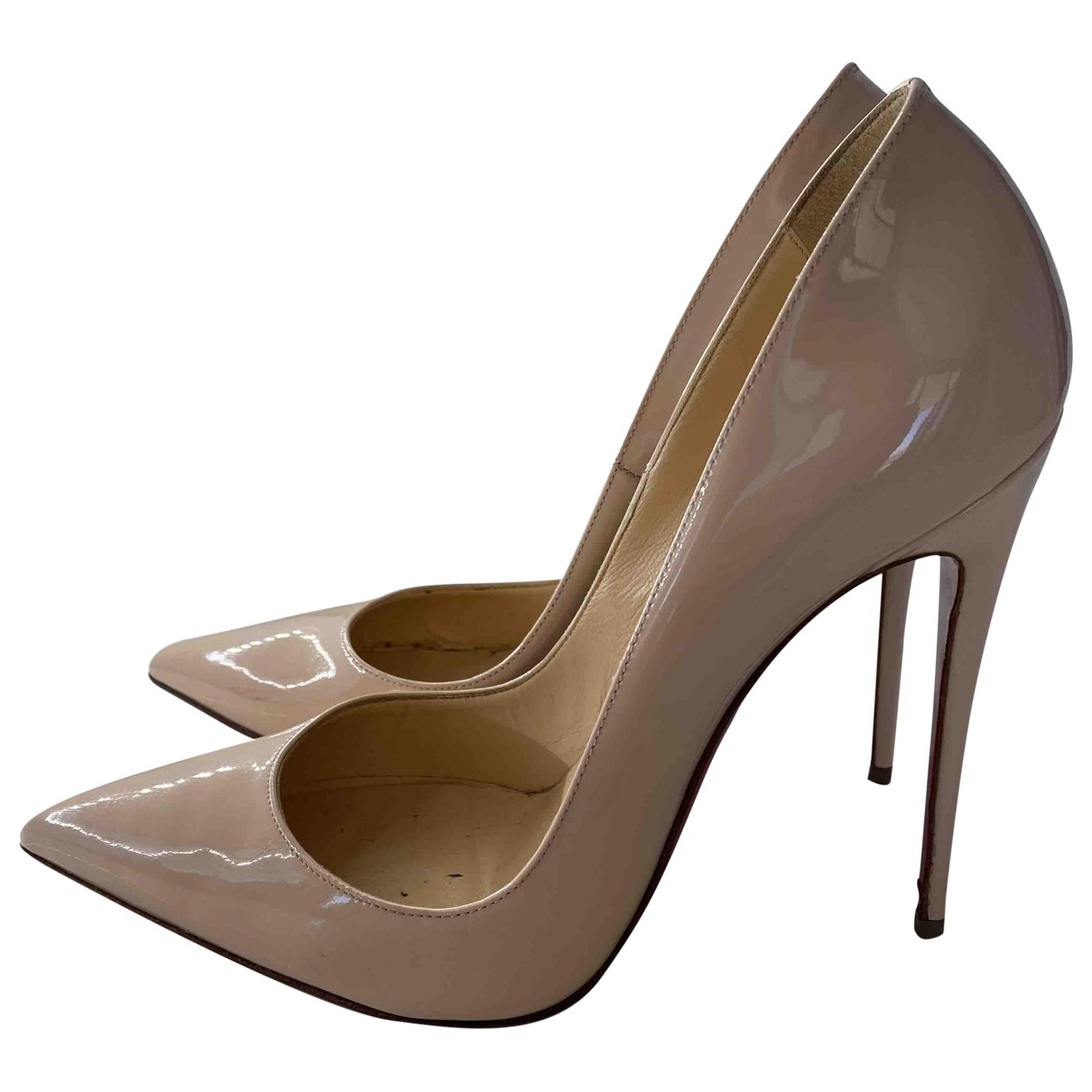 Christian Louboutin So Kate  Beige Patent leather Heels for Women 39.5 EU
