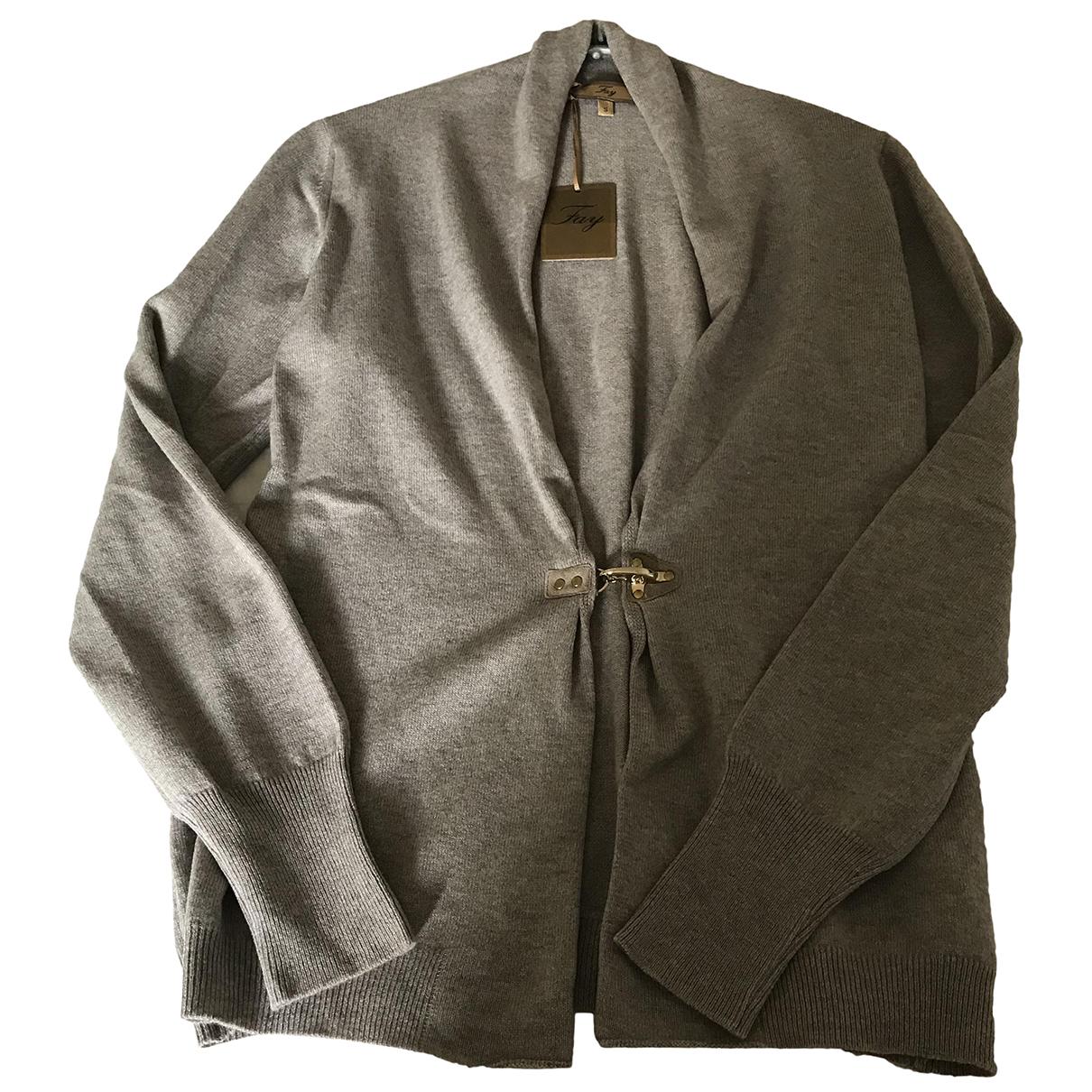 Fay - Pull   pour femme en laine - beige