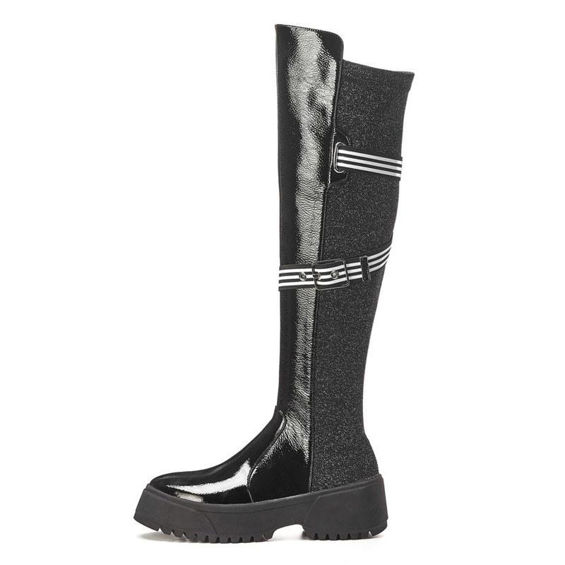 Ericdress Customized Round Toe Side Zipper Knee High Boots