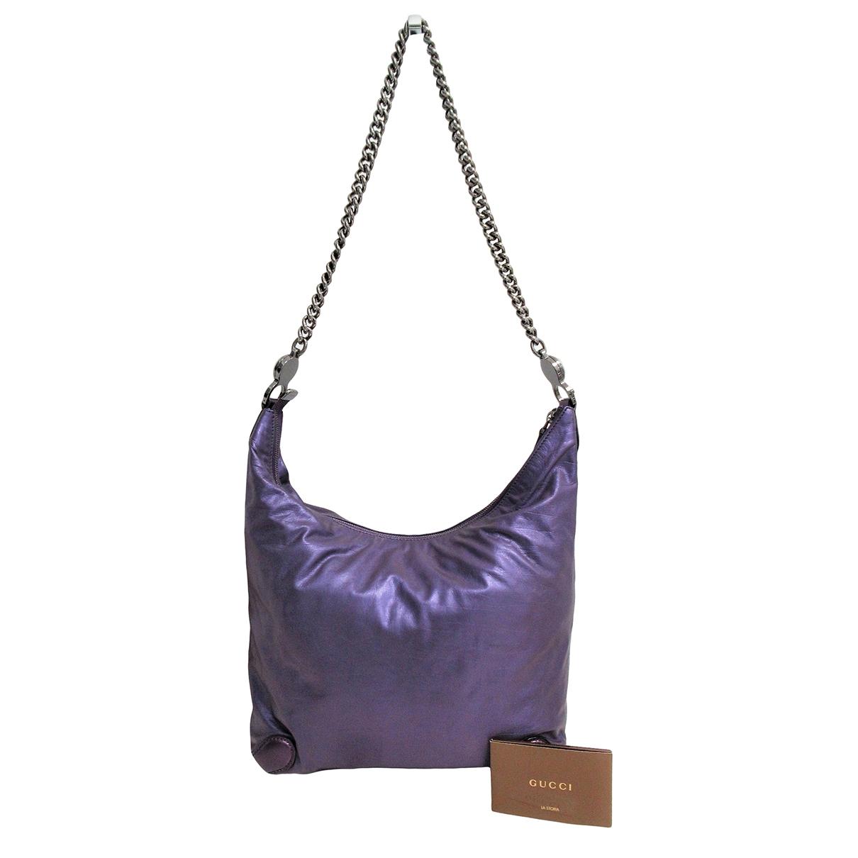 Gucci \N Handtasche in  Lila Leder