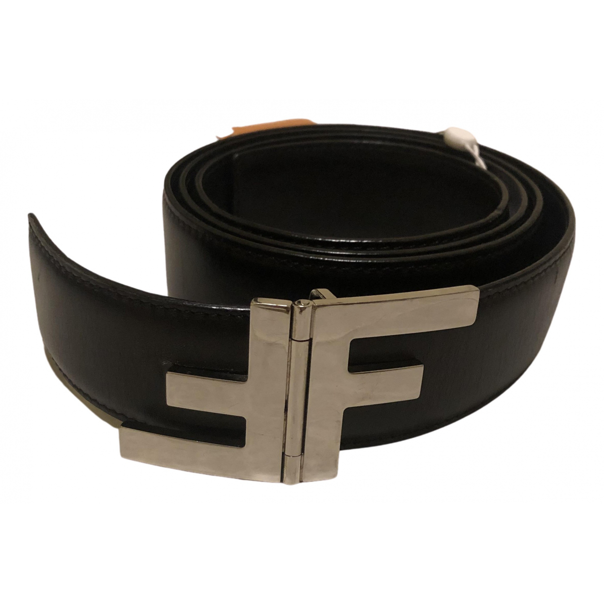 Fendi N Black Leather belt for Women 95 cm