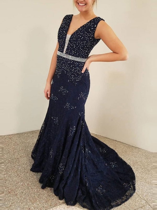 Ericdress Beading Mermaid Evening Dress